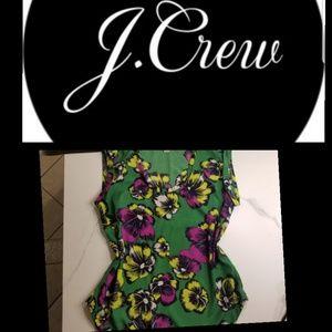 J. Cew Green and purple top
